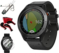 Garmin Approach S60 Golf Watch (010-01702-03) + Screen Protector (2-Pack) + 7-in-1 Multi-Function Golf Tool + Neoprene Zippered Headcover for Golf Club Iron Head Covers Set + 1 Year Extended Warranty