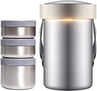 WCHCJ Vacuum Insulated Stainless Steel Food Jar, Charcoal