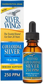 Natural Path Silver Wings Colloidal Silver Mineral Supplement, 250 Ppm, 1 Fluid Ounce