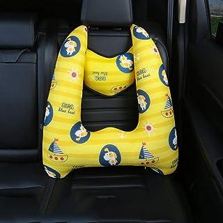 Dyaskz シートベルト カバー クッション 子供 U型枕 ドライブ 車用枕 子供 車 ジュニアシート 睡眠補助クッション 安眠枕 肩こり 首こり カーシートベルト 安全対策 カー用品 セーフティパッド キッズ (C)