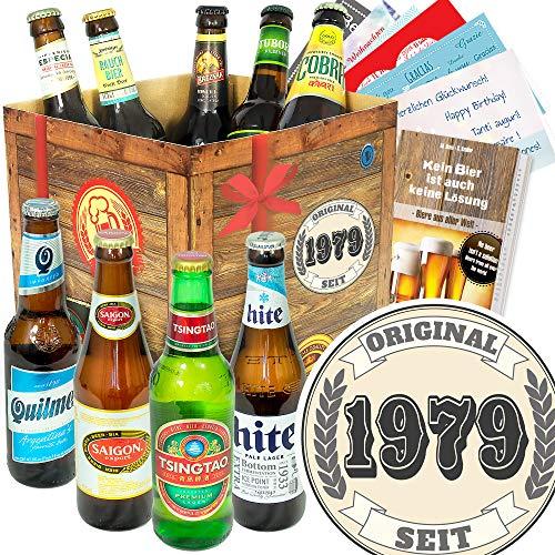 Original seit 1979 - Biersorten aus der Welt - Geschenk für den Mann