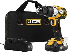 JCB Tools - JCB 20V Brushless Hammer Drill Driver - Includes 2.0Ah Battery - 2.4A Charger, JCB-20BLCD-2X