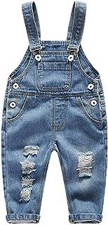 FEOYA Niños Bebé Petos Vaqueros Overalls Denim Pantalones
