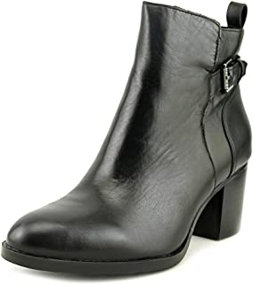Lauren by Ralph Lauren Womens Genna Leather Closed Toe Ankle, Black, Size 5.0 O6