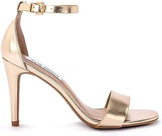 765452d66b14ca Steve Madden Sandalo Pelle Metallizzata con Fascia e Laccio alla Caviglia e  Tacco 9,5cm