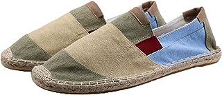 Hommes Espadrilles Patchwork Bouche Profonde Slip-on Chaussures Décontractées Basses Antidérapantes Chaussures en Toile Re...