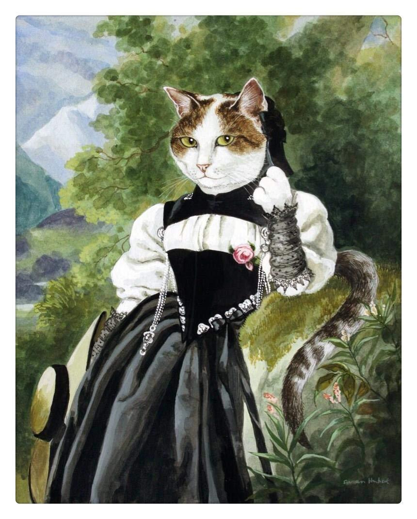 Puzzle 1000 Piezas Adulto Gracioso Gato Dama.Rompecabezas De ...