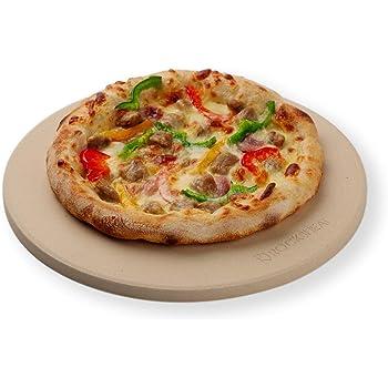 "K ROCKSHEAT 10.25""x 0.47"" Small Size Round Cordierite Pizza Stone"