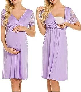 STRIR Camisón Lactancia Pijama Embarazada Algodón
