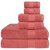 Best Luxury Bath Towels - Wonwo 100% Cotton Towel Sets, 600 GSM Luxury Review