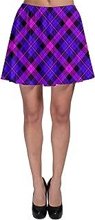Womens Tartan Plaid Pattern Skater Skirt, XS-3XL