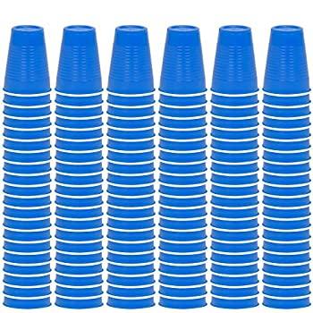 DecorRack Party Cups 12 oz Reusable Disposable Cups for Birthday Party Bachelorette Camping Indoor Outdoor Events Beverage Drinking Cups  Blue 120