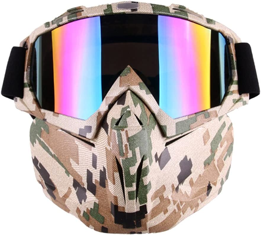 PiscatorZone Goggles Mask Paintball/Motorcycle/Skiing/Riding/Cycling Ball-UV Proof Windproof Anti-Fog Protective Tactical Glasses