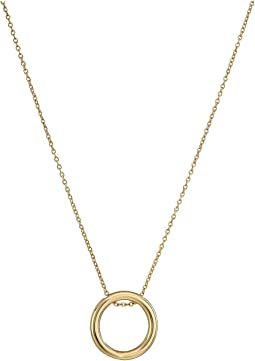 Fashion Circle Pendant Necklace