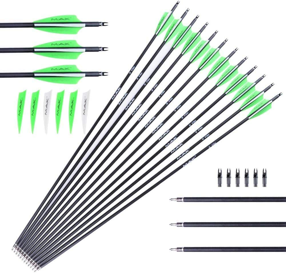 chengchuang 30 Inches Price reduction Mixed Carbon Spine Arrow 500 Max 67% OFF Fluorescent G