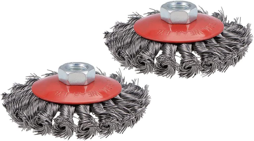 uxcell 100mm Wire Cup Brush Twist Crimped Challenge the lowest price Cheap sale of Japan ☆ Knotted with Steel M14