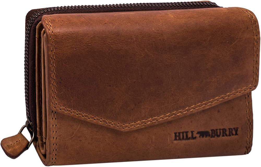Hill burry portafoglio da donna porta carte di credito in vera pelle SBHB304