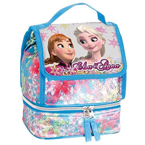 Disney Frozen Anna et Elsa Soul Sac à Déjeuner Isotherme (Bleu)
