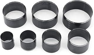 Yuhtech Outils de Coupe Cuir, 7 Pcs Outil de Poinçonnage de Forme Ronde 20/25/30/35/40/45/50mm Ensemble de Matrices de Poi...