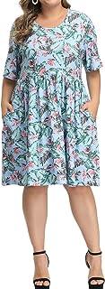 Allegrace Dress for Women Plus Size Summer Floral Print...