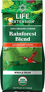 Life Extension Rainforest Blend (Whole Bean) Coffee, Natural, 12 Ounce