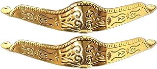 Modestone Pair Metal Toe Caps/Tips Western Filigree O/S Gold