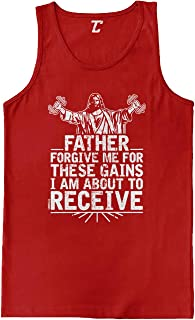 Father Forgive Me for These Gains - Gym Men's Tank Top