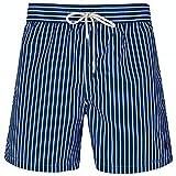 Ralph Lauren Polo Traveler - Bañador para hombre, diseño de rayas, color azul marino Azul azul marino M