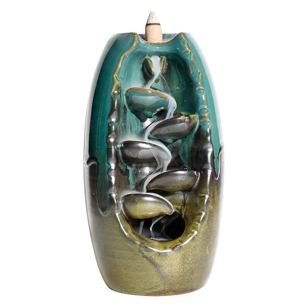 地上で電気の意義YJF セラミック逆流香ホルダー ホームデコレーション 香炉