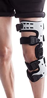 Orthomen OA Unloader Knee Brace - Lateral/Outside Support for Arthritis Pain, Osteoarthritis, Cartilage Defect Repair, Avascular Necrosis, Tibial Plateau Fracture(Left)