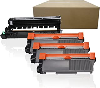 Inktoneram Compatible Toner Cartridges & Drum Replacement for Brother TN660 TN630 DR630 DR-630 TN-660 TN-630 HL-L2300D HL-L2320D HL-L2340DW HL-L2360DW HL-L2380DW MFC-L2700DW ([Drum, 3-Toner], 4PK)