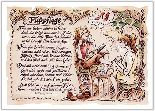 Die Staffelei Geschenk Fußpflege Fußpfleger Podologie Zeichnung Color 30 x 21 cm