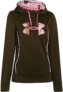 Women's UA Storm Caliber Hoodie, Rifle Green Heather/Realtree AP Pink/Perfection, SM (US 4-6)