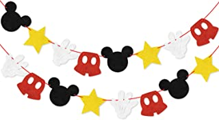 Felt Garland Birthday Party Banner Mickey Inspired Decoration Supplies