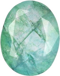 Real Gems Piedra Preciosa Suelta Esmeralda facetada Natural de AAA, Color Verde Niza Brillo 5.00 CT Forma Ovalada Piedra P...