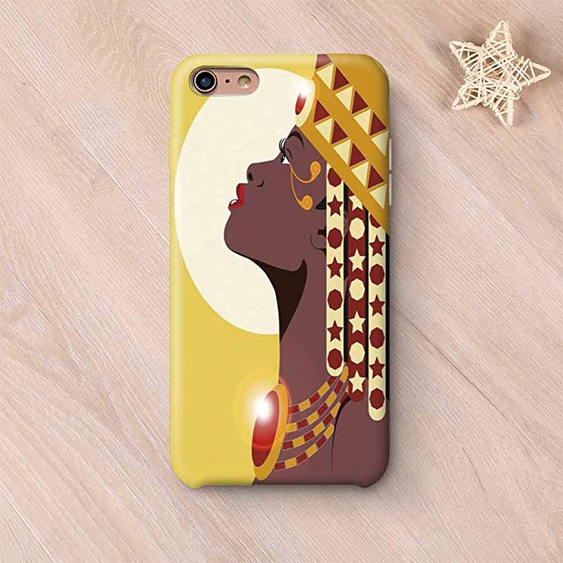 Queen Stylish Compatible with iPhone Case,Beautiful Sexy African Woman Princess with Crown Against Sun Kissing Compatible with iPhone X,iPhone 6 Plus / 6s Plus
