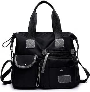 YouNuo Women's Top Handle Handbag Nylon Laptop Crossbody Bag Water Resistant Tote Shoulder Bags