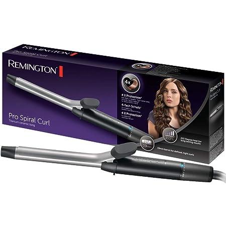 Remington Pro Spiral Curl CI5519 Rizador de pelo, Pinza de 19 mm, Cerámica y Titanio, Punta Fría, Digital, Negro