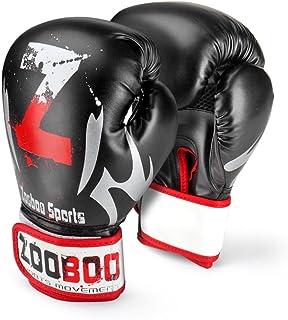 flexzion Guantes de boxeo de entrenamiento Grappling UFC Boxeo Lucha Ponche Ultimate Saco de boxeo de Heavy 899Deportes Equipos de Ejercicios de Fitness en negro y rojo para adulto hombre mujer