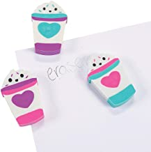 Fun Express - Valentine Latte Scented Erasers for Valentine's Day - Stationery - Pencil Accessories - Erasers - Valentine's Day - 24 Pieces
