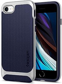 Spigen Neo Herringbone Hülle Kompatibel mit iPhone SE 2020, iPhone 8 und iPhone 7  Satin Silver
