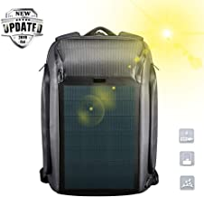 Multifunction Solar Backpacks for Men - 15.6 inch The Most Advanced Solar Power Backpack with USB Charging - Waterproof, Anti-Theft Laptop Bag