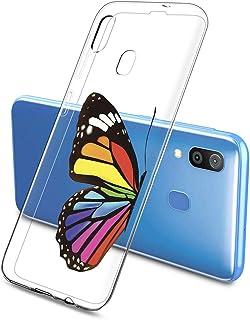 Suhctup Compatible con Samsung Galaxy M30S Funda de Transparente Silicona con Dibujos Mariposa Lindo Diseño Patrón Cárcasa Ultrafina Suave TPU Antigolpes Bumper Protección Caso-A8