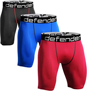 Defender Men's Cool Dry Compression Baselayer Shorts Pants Capri Tights