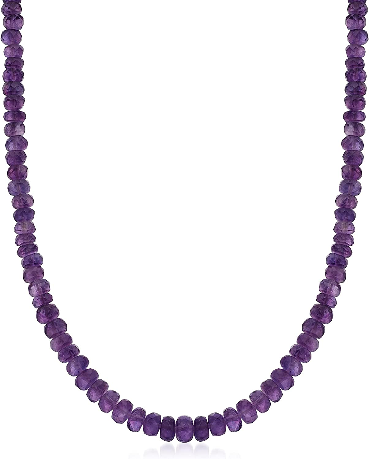 Award Ross-Simons Amethyst Bead Necklace Sterling With Silver Selling rankings