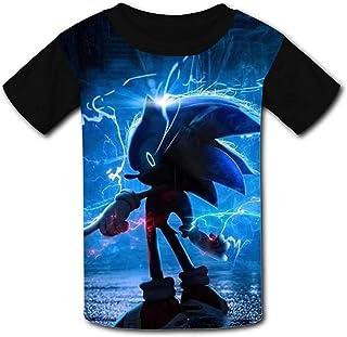 guoweiweiB Camisetas de Manga Corta para niño, Youth 3D Short Sleeve T-Shirts So-Nic Game Kids Casual Graphics Tees