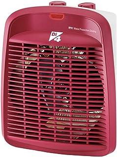 Di4 Calore Rosso-Calefactor, 2000W de Potencia, 3 Posiciones De Temperatura, Rojo, 207 x 146 x 255