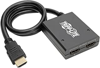 Tripp Lite 2-Port 4K HDMI Splitter, 1 In 2 Out, Ultra HD (UHD) Video & Audio (B118-002-UHD)