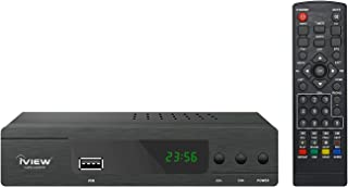 iView 3300STB Converter Box with Recording, Media Player, Built-in Digital Clock, Analog to Digital, QAM Tuner, Channel 3/4, HDMI, USB