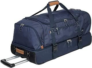 Globe Trekker 2 Compartment Rolling Duffel Bag, Navy Blue